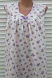 Ночная рубашка без рукава 64 размер Сиреневые розочки, фото 8