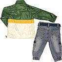 Дитячий демісезонний костюм зростання 74 6-9 міс трикотажний зелений костюмчик на хлопчика комплект з джинсами, фото 3