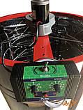 Медогонка 4-х Рамоч. Нержавеющая, Поворотная. Кассеты сварные, окрашены порошковой краской. С ЭЛЕКТРОПРИВОДОМ, фото 3