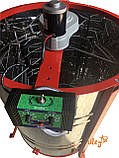 Медогонка 4-х Рамоч. Нержавеющая, Поворотная. Кассеты сварные, окрашены порошковой краской. С ЭЛЕКТРОПРИВОДОМ, фото 4