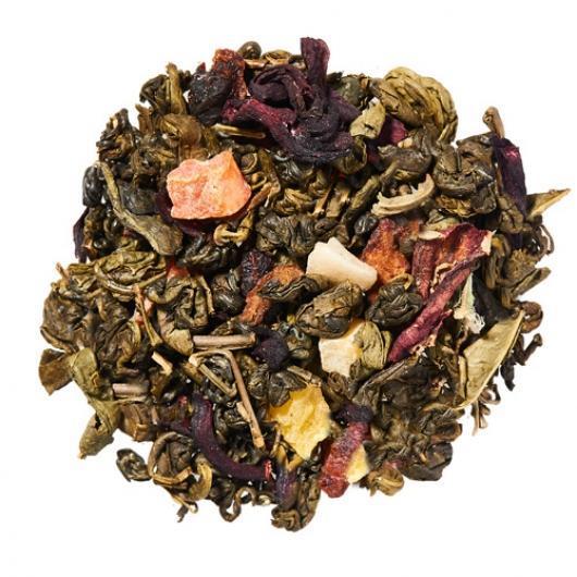 Зеленый Чай Китайский Зеленая улитка с восточными фруктами  крупно листовой Tea Star  50 гр Китай