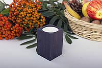 Підсвічник для чайної свічки з дерева (вільха), фото 1