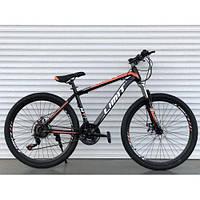 Двухколесный спортивный велосипед 26 дюймов Toprider 800 оранжевый