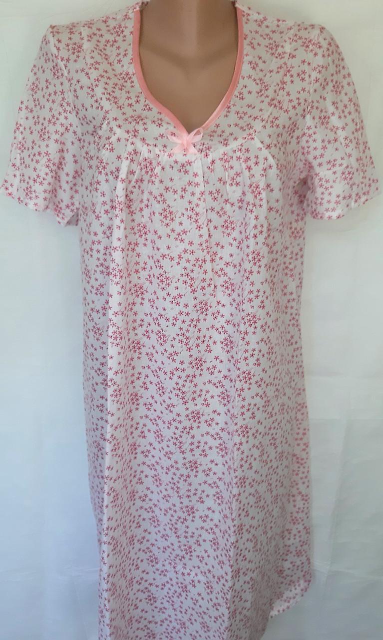 Ночная рубашка с коротким рукавом 50 размер Весна