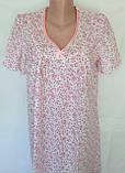 Ночная рубашка с коротким рукавом 50 размер Весна, фото 2