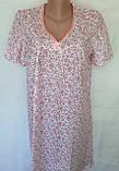 Ночная рубашка с коротким рукавом 50 размер Весна, фото 4