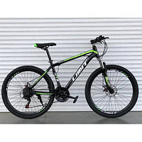 Горный одноподвесный велосипед 26 дюймов Toprider 800 салатовый