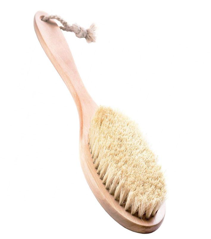 Щетка для сухого массажа деревянная (n-766)