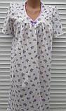 Ночная рубашка с коротким рукавом 54 размер Сиреневые розочки, фото 10