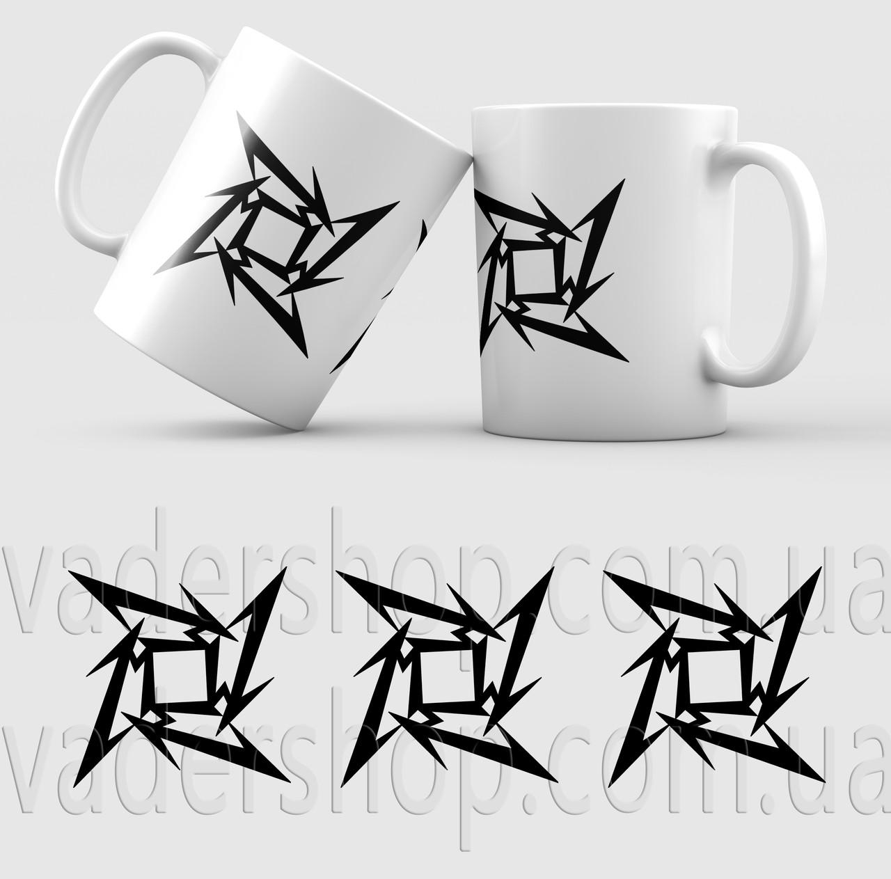 Чашка Metallica. Металіка. Музика. Metal. Метал. Чашка з фото
