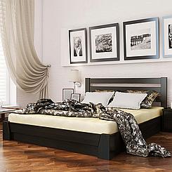 Ліжко дерев'яне двоспальне з підйомним механізмом Селена (бук)