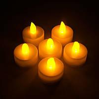 Светодиодная свеча 24 шт в упаковке (чайная свеча)
