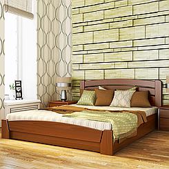 Ліжко дерев'яне двоспальне Селену Аури з підйомним механізмом (бук)