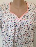 Ночная рубашка с коротким рукавом 58 размер Семечки, фото 2