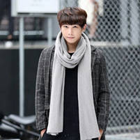 Чоловічий теплий шарф - Сірий, фото 4