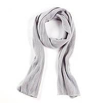 Чоловічий теплий шарф - Сірий, фото 2
