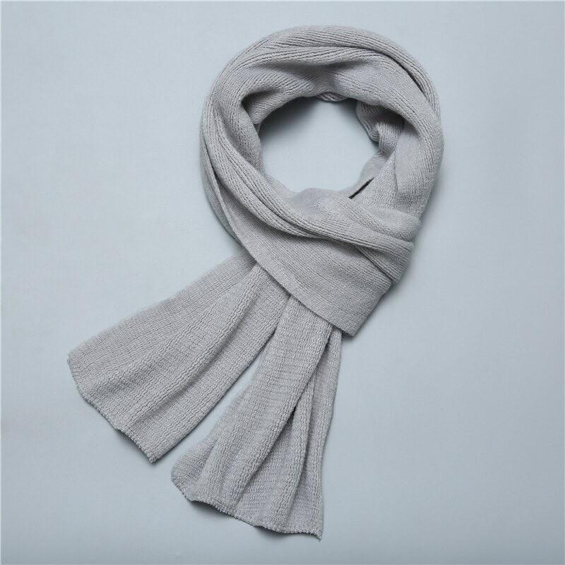 Чоловічий теплий шарф - Сірий
