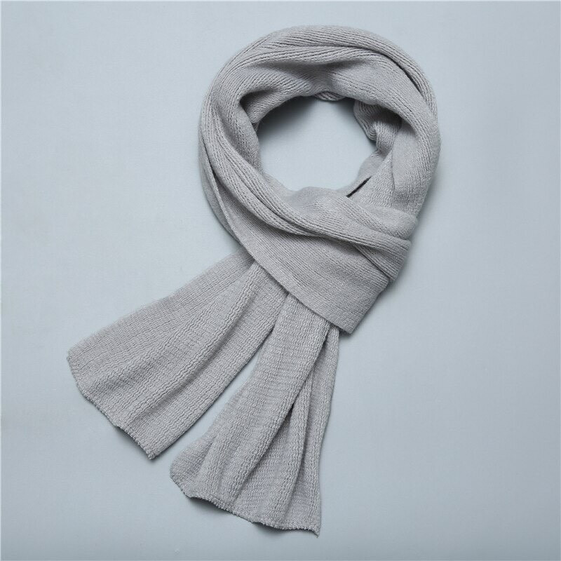 Мужской теплый шарф - Серый
