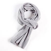 Мужской теплый шарф - Серый, фото 3