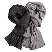 Мужской теплый шарф - Серый, фото 7