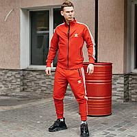 Спортивный костюм мужской ЗИМНИЙ Adidas Originals красный до - 25*С трехнитка с начесом на флисе теплый Адидас