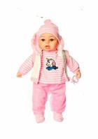 Кукла-пупс мягконабивная говорящая M 3861 UA , 45 см, фото 1