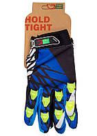 Перчатки Green Cycle NC-2357-2014 MTB с закрытыми пальцами M сине-белые