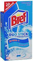 """Средство чистящее Bref Duo-Stick для унитаза """"Океанский Бриз"""" 3 стикера 27г"""