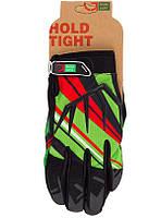 Перчатки Green Cycle NC-2361-2014 MTB с закрытыми пальцами S желто-красно-зеленый