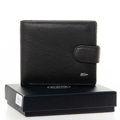 Черный кожаный мужской кошелек портмоне DR. BOND M3 black