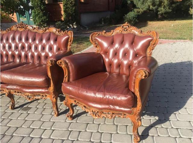 кожаная мебель барокко