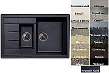 Мийка кухонна гранітна Platinum TOSKANA 7850 W матова (19 різних варіантів кольору)