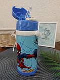 Термос детский с трубочкой Человек Паук, фото 4