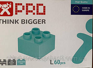 Конструктор кубики NOBI PRO L 60 деталей бирюза