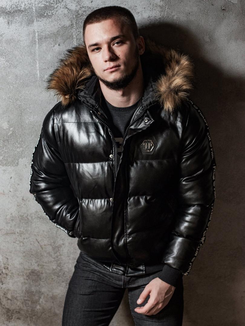 Мужская зимняя куртка Philipp Plein, чоловічий зимовий пуховик Philipp Plein, зимняя куртка Филипп Плейн