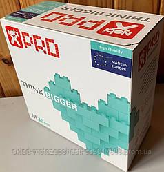 Конструктор кубики NOBI PRO 100XL 100 деталей берюза