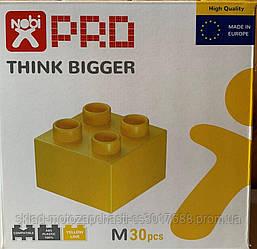 Конструктор кубики NOBI PRO M 30 деталей желтый