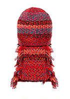 Детский комплект: вязаная шапочка и шарфик.