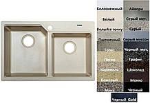 Мийка кухонна гранітна Platinum HARMONY 7850 W матова (19 різних варіантів кольору)