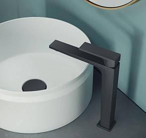 Смеситель черный для умывальника (для раковины) Nobili SE124128/2BM (Италия), фото 2