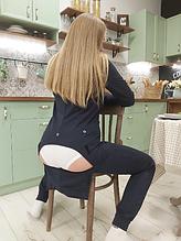 Пижама с карманом на попе Попожама черная