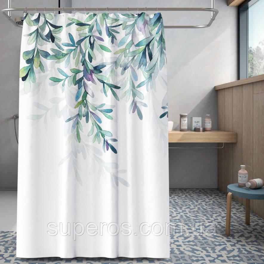 Тканевая шторка для ванной 180х200 см Нежность