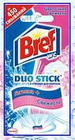 """Средство чистящее Bref Duo-Stick для унитаза """"Цветочная Свежесть"""" 3 стикера 27г"""