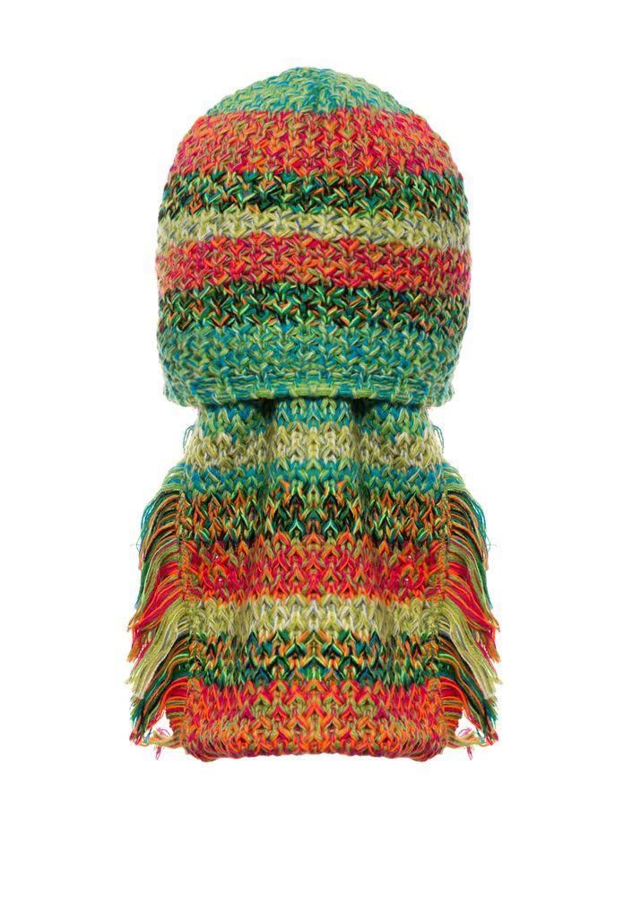 Детский комплект: вязаная шапочка и шарфик, Loman Польша.
