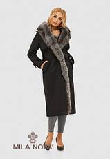Пальто женское зимнее с натуральным мехом размеры: 44-52, фото 2