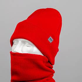 "Комплект шапка и баф ""Остин"" Красный"