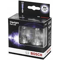 Авто лампа накаливания H4 Gigalight plus 120% / P43T 12V 60/55W (2шт) BOSCH 1 987 301 106