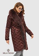 Женское зимнее пальто с натуральным мехом разеры:44-50, фото 3