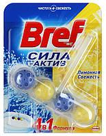"""Средство для унитаза Bref Сила-актив """"Лимонная свежесть"""" формула 4 в 1; 50г"""