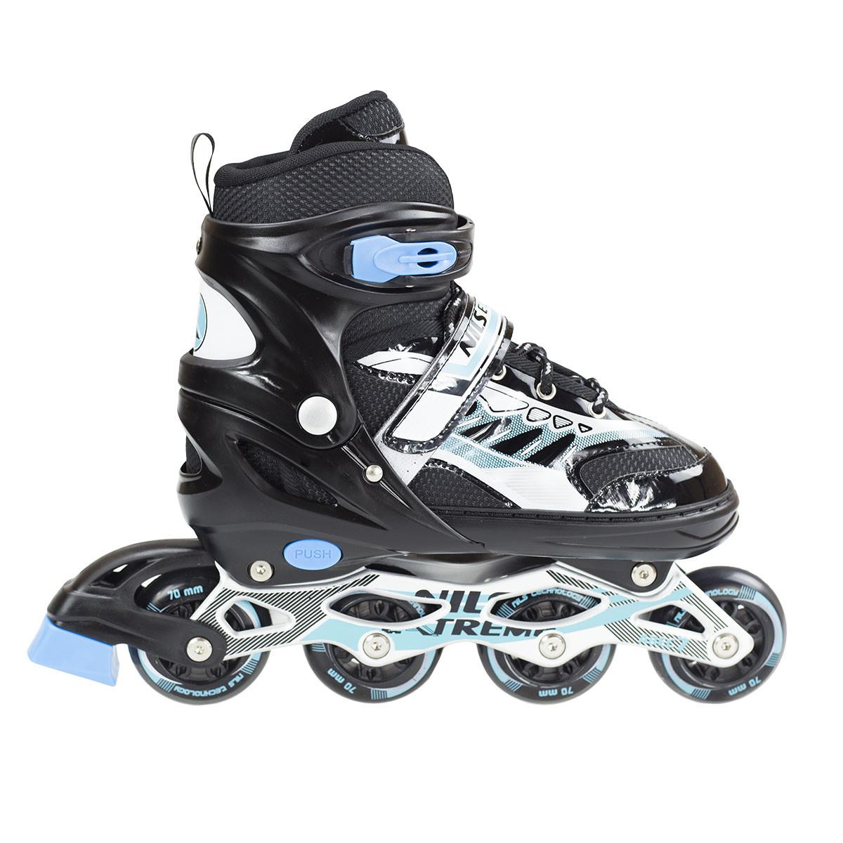 Купить Роликовые коньки и лыжероллеры, Роликовые коньки Nils Extreme NJ1828A Size 31-34 Black